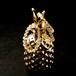 金運の王様 ルチルクォーツ 金色の針が綺麗 水晶 「維」 天然石 ブレスレット 手作りキット