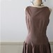 Vintage ドロップウェストのワンピースドレス