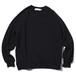 SO ORIGINAL RAGLAN CREW NECK SWEAT SHIRT(BLACK)
