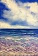 『青い海、青い空』油絵