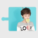 ▪️アンドロイド用Lサイズ Kane Dennis × KIDS-TOKEI Photographer Akane Android Lサイズ 手帳型スマホケース ブルーキャンディ