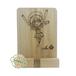 木製スマホスタンド(スマホ・ミニタブレット用、西川材製)(受注生産)
