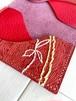 赤一色と刺繍 カードケース 本革 レザー 名刺入れ シュリンク レッド