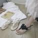 レディース サンダル ビーチサンダル りぼん ガーリー フェミニン バックストラップ 夏 黒 ブラック アプリコット 旅行 リゾート 韓国