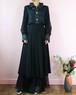 black pleats skirt
