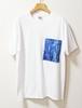 藍染め半袖 綿Tシャツ メンズ ユニセックス L(AT-42)