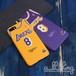 「NBA」ロサンゼルス レイカーズ 1966-99シーズン クラシックス 復刻ジャージ コービーブライアント サイン入り iPhoneX iPhone8 ケース