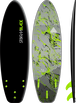 Storm Blade 6ft3 Squash Tail Surfboard / Black x Silver Marble