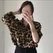 【tops】売り切れ必至 ファッションヒョウ柄プリントシャツ韓国系超人気