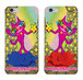スマホ  ペア ・ケース:iPhone6Plus/6sPlus用「猫のショッキングピンキー 魔法の青い薔薇  & 魔法の赤い薔薇」