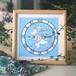 アリスの時計ウサギイラスト(ブルー / 額:無塗装)