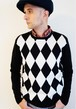 ネバートラスト Diamond pattern Crew neck P/O
