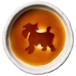 シュナウザーのシルエットが浮かぶお醤油小皿(丸)