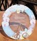 【蘭ブーケ】胡蝶蘭&洋ラン カトレアのガーランドウェルカムプレート 結婚式ウェルカムボード・記念日ギフト・結婚祝い