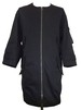 NO COLLAR FOUR FRAP HALF BLOUSON -BLACK-