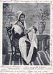 古絵葉書エンタイア「伝統的衣装の女性」(1900年代初頭)