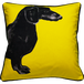 Jimmie Martin Cushions Yellow sausage dog [FRONT] 中材なし