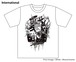 [White / Monochrome] Special T-shirt of Collaboration Design by Kazutaka Kodaka (Tookyo Games) and jbstyle.
