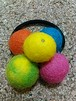 Felt ball hair gum