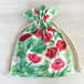 ワンダーフラワー 巾着ポーチ 花柄 レッドポピー