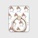 帽子をかぶったハナペちゃん(茶はちわれ) スマホリング ゴールド