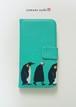 歩くペンギン達の手帳型iPhoneケース