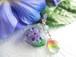 雨上がりの紫陽花のハートのペンダント(青紫)