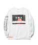 """""""Supper"""" L/S Tee  WHTIE  19AW-FS-45"""