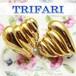 TRIFARI 黄金のハート☆ ゴールドプレーテッド ヴィンテージ イヤリング