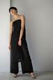 ROOM211 / Satin Organza Relax Dress (black)