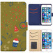 Jenny Desse Priori3S LTE ケース 手帳型 カバー スタンド機能 カードホルダー イエロー(ブルーバック)