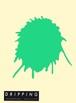 DRIPPING Sticker L(エメラルドグリーン)