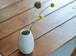 白い陶器の花瓶(無)