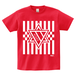 ERICH / HEXAGRAM STRIPE T-SHIRT RED