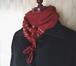 ハートを織り込んだふんわりカシミヤのミニ手織りマフラー