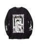 """Hanging"" L/S Tee  BLACK  19AW-DH-14"