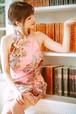 pink china dress