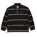 POLAR SKATE CO. Striped Fleece Pullover black L ポーラー ボーダー フリース