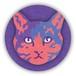 紫色のネコ 缶バッジ