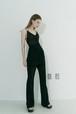 String see-through dress / Black