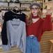【トップス】ファッション長袖Vネックルーズ着痩せ合わせやすいニットセーター25764386