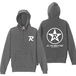 R-logo Breast(BKP:All You Need Is Red ver.) / パーカー(White/Gray)【送料無料】【Shop限定】