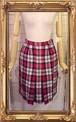 赤×ネイビー ボックスプリーツスカート