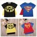 送料無料 SELECT for KIDS マント付き スーパーマン バットマン Tシャツ 子供 子ども ベビー ハロウィン