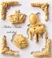 王冠、チェアー、フレーム(3種類)シリコンモールド