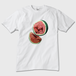 Watermelonメンズ Tシャツ 白 トナー熱転写