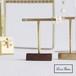 ピアスT字スタンド 木製+真鍮 ピアススタンド 3個入り SI-303421