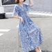 【dress】人気を独占中一目惚れ清新人気デザインゆったり2色花柄ワンピース M-0303