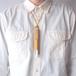 きはだ染め革のペンとイヤホンのホルダー【ichi / いち】 #手縫い #草木染め革