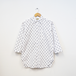 2/3 SLEEVE SHIRT OPEN FRONT (ANCHOR WHITE)